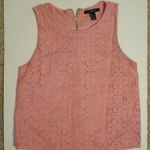 Women's Size Small Zip Up Sleeveless Floral Blouse